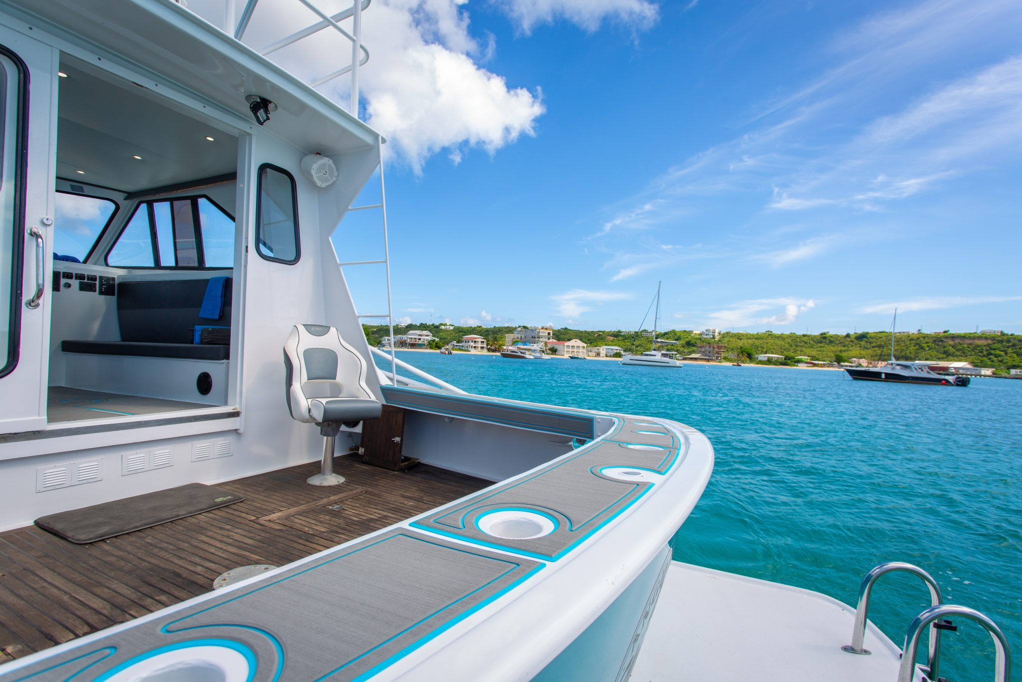 back-deck-blue-ocean-anguilla-rum-and-reel-charters